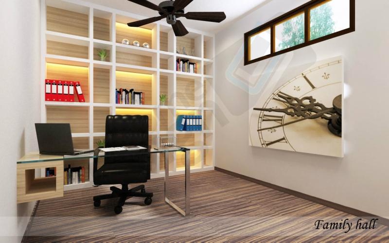 Bookcase Study Table Design Skudai JB Design | LV Construction Design Sdn Bhd
