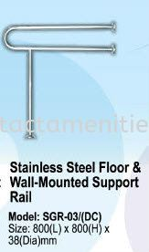 SGR-03 SS Floor and Wall-Mounted Support Rail Stainless Steel Q-Up Stand and Clothes Rack HouseKeeping Products  Johor Bahru (JB), Malaysia, Sarawak, Perak, Iskandar Puteri, Menglembu, Kuching Supplier, Supplies, Distributor, One Stop, Provider | Contact Amenities & Hotel Supplies