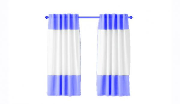 Border Type Curtain Modern Curtain Type Johor Bahru, JB, Johor, Malaysia. Supplier, Design, Installation | Middle Curtains Design & Furnishing