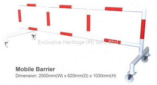Mobile Barrier Safety Products Selangor, Seri Kembangan, Malaysia supplier | Exclusive Heritage (M) Sdn Bhd