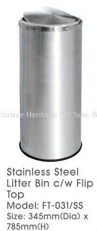 FT-031SS Litter Bin Stainless Steel Bins Selangor, Seri Kembangan, Malaysia supplier | Exclusive Heritage (M) Sdn Bhd