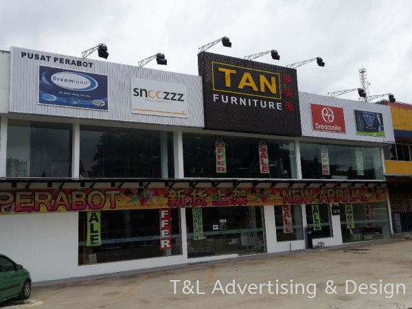 Tan Furniture Spandrel signboard Spandrel Signboard Johor Bahru (JB), Malaysia, Skudai Supplier, Supply, Design, Install | T & L Advertising & Design