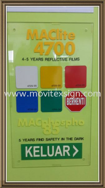 reflective vinyl sticker Maclite flim  Reference Color Johor Bahru (JB), Johor, Malaysia. Design, Supplier, Manufacturers, Suppliers | M-Movitexsign Advertising Art & Print Sdn Bhd