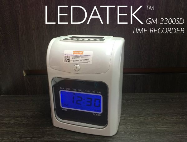 LEDATEK GM-3300SD Time Recorder Machine Time Recorder Johor Bahru, JB, Johor, Malaysia. Supplier, Suppliers, Supplies, Supply | LEDA Technology Enterprise