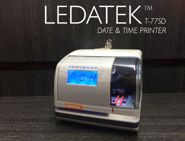 LEDATEK T-77SD DATE & TIME PRINTER Machine Time Recorder Johor Bahru, JB, Johor, Malaysia. Supplier, Suppliers, Supplies, Supply | LEDA Technology Enterprise