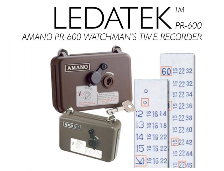 AMANO PR-600 WATCHMAN'S TIME RECORDER Machine Time Recorder Johor Bahru, JB, Johor, Malaysia. Supplier, Suppliers, Supplies, Supply | LEDA Technology Enterprise