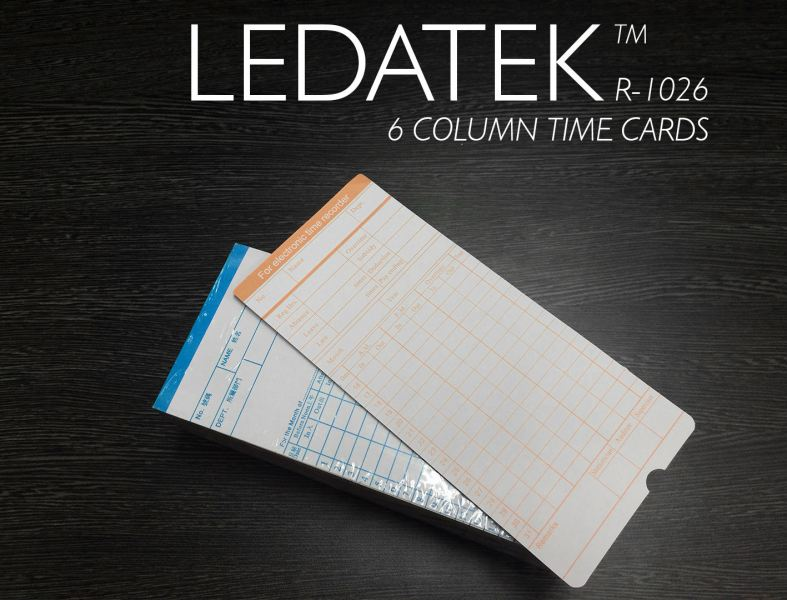 LEDATEK R1026 TIME CARDS Accessories Time Recorder Johor Bahru, JB, Johor, Malaysia. Supplier, Suppliers, Supplies, Supply | LEDA Technology Enterprise