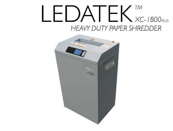 LEDATEK XC-1800PLUS PAPAR SHREDDER Machine Paper Shredder Johor Bahru, JB, Johor, Malaysia. Supplier, Suppliers, Supplies, Supply | LEDA Technology Enterprise