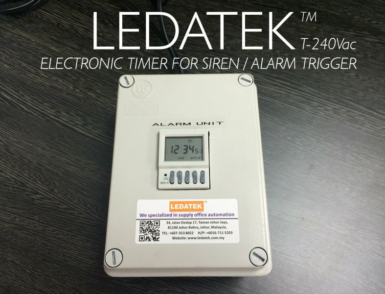 LEDATEK T240Vac ELECTRONIC TIMER Accessories Time Recorder Johor Bahru, JB, Johor, Malaysia. Supplier, Suppliers, Supplies, Supply | LEDA Technology Enterprise