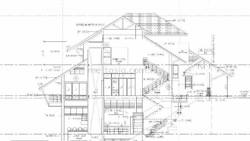 Construction drawing Stage 3 - Working drawings and submission Bungalow Design and Build Kepong, Kuala Lumpur (KL), Malaysia. Design, Build, Renovation | Mettasia Construction Sdn Bhd