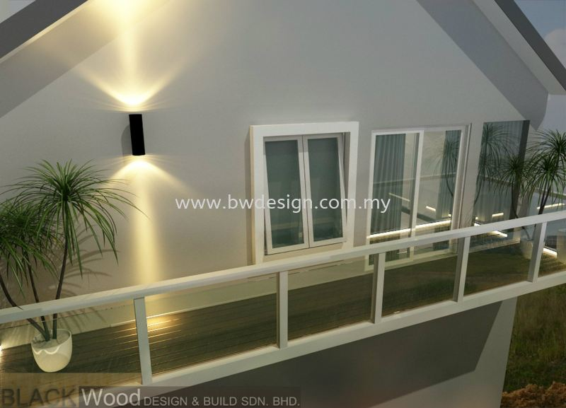 Balcony Design Kulai IOI Gate C Exterior Design Johor Bahru (JB), Mount Austin, Setia Indah Interior Design, Renovation | Black Wood Design & Build Sdn Bhd
