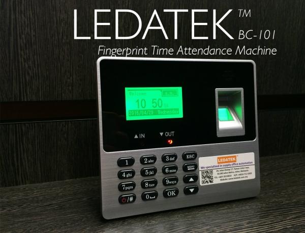 LEDATEK BC-101 Fingerprint Time Attendance Machine Fingerprint Time Attendance System Johor Bahru, JB, Johor, Malaysia. Supplier, Suppliers, Supplies, Supply | LEDA Technology Enterprise