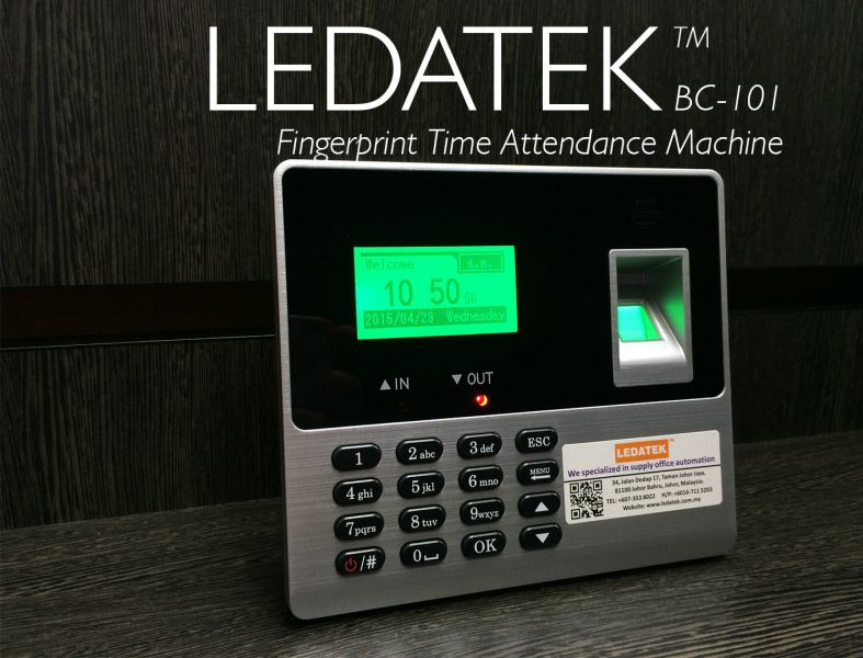 LEDATEK BC-101 Fingerprint Time Attendance Machine Fingerprint Time Attendance System Johor Bahru, JB, Johor, Malaysia. Supplier, Suppliers, Supplies, Supply | LEDA Technology Enterprise