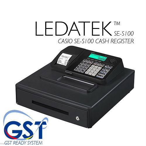 LEDATEK CASIO SE-S100 CASH REGISTER WITH GST SUPPORT Cash Register Others Johor Bahru, JB, Johor, Malaysia. Supplier, Suppliers, Supplies, Supply | LEDA Technology Enterprise