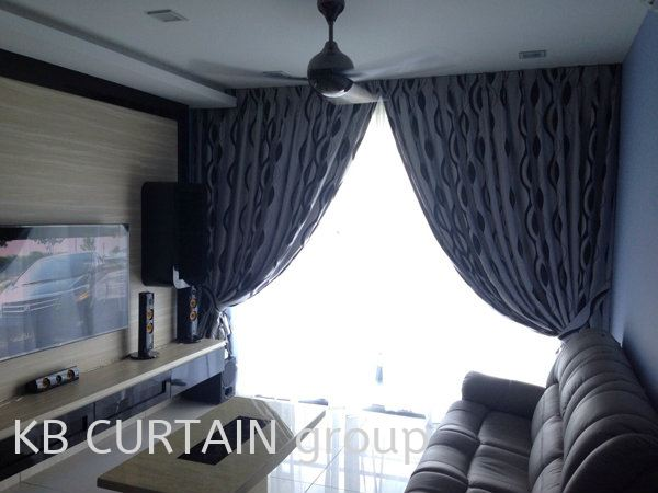 Blackout Curtain Curtain / Wallpaper Johor Bahru (JB), Skudai, Singapore Design, Supplier, Renovation | KB Curtain & Interior Decoration