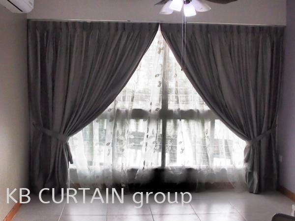 Sheer or Day Curtain Curtain Johor Bahru (JB), Skudai, Singapore Design, Supplier, Renovation | KB Curtain & Interior Decoration