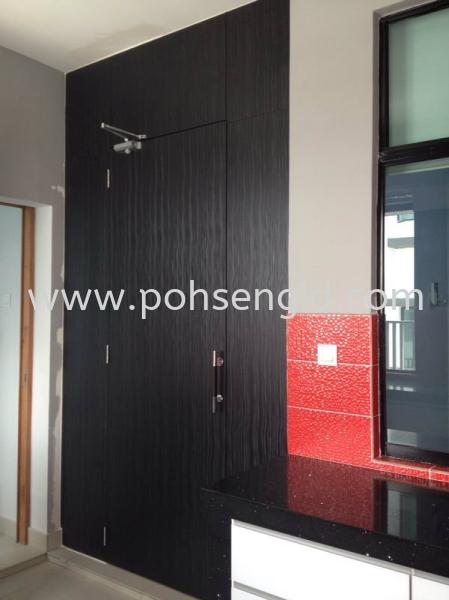 Wet & Dry Kitchen Entrance Hidden Door #Puchong Kitchen Seremban, Senawang, Negeri Sembilan (NS), Malaysia. Renovation, Service, Interior Design, Supplier, Supply | Poh Seng Furniture & Interior Design