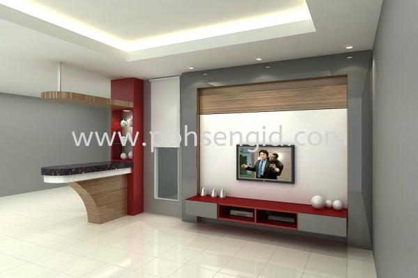 Living Room Seremban, Negeri Sembilan (NS), Malaysia Renovation, Service, Interior Design, Supplier, Supply | Poh Seng Furniture & Interior Design
