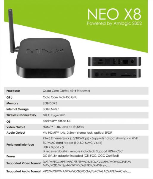 Neo X8 Minix Malaysia, Selangor, Kuala Lumpur, KL. Supplier, Provider, Supply, Supplies | Adventure Multi Devices Sdn Bhd