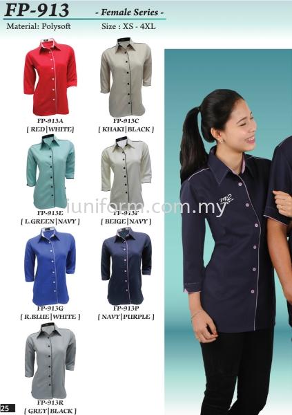 FP-913 SERIES LADIES 3/4 SLEEVE CORPORATE WEAR  Johor Bahru (JB), Skudai, Impian Emas Supplier, Manufacturer, One Stop | I Uniform & T Shirt