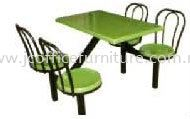 SCH0541(B1) 4 Seater Fibreglass Table with Backrest FIBREGLASS FOODCOURT TABLE / CHAIRS Selangor, KL, Puchong, Malaysia. Manufacturer, Supplier, Supply, Supplies | JC Team Office Solution