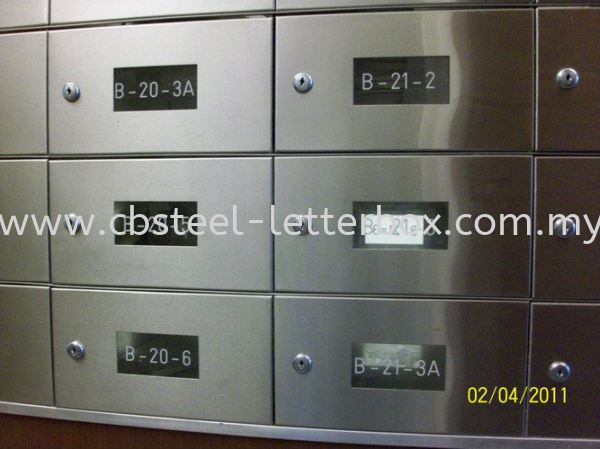 Stainless Steel Front and Back with Acrylic View Panel Letter Box - Apartment  Puchong, Selangor, Kuala Lumpur (KL), Malaysia. Supplier, Supply, Supplies, Manufacturer   CB Steel & Letter Box Sdn Bhd