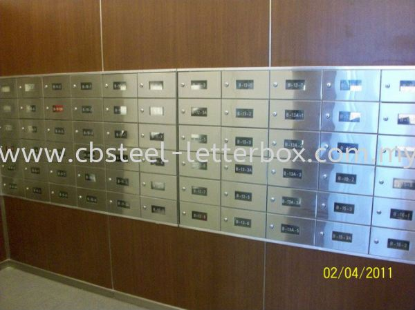 Stainless Steel Front and Back with Acrylic View Panel Letter Box - Apartment  Puchong, Selangor, Kuala Lumpur (KL), Malaysia. Supplier, Supply, Supplies, Manufacturer | CB Steel & Letter Box Sdn Bhd