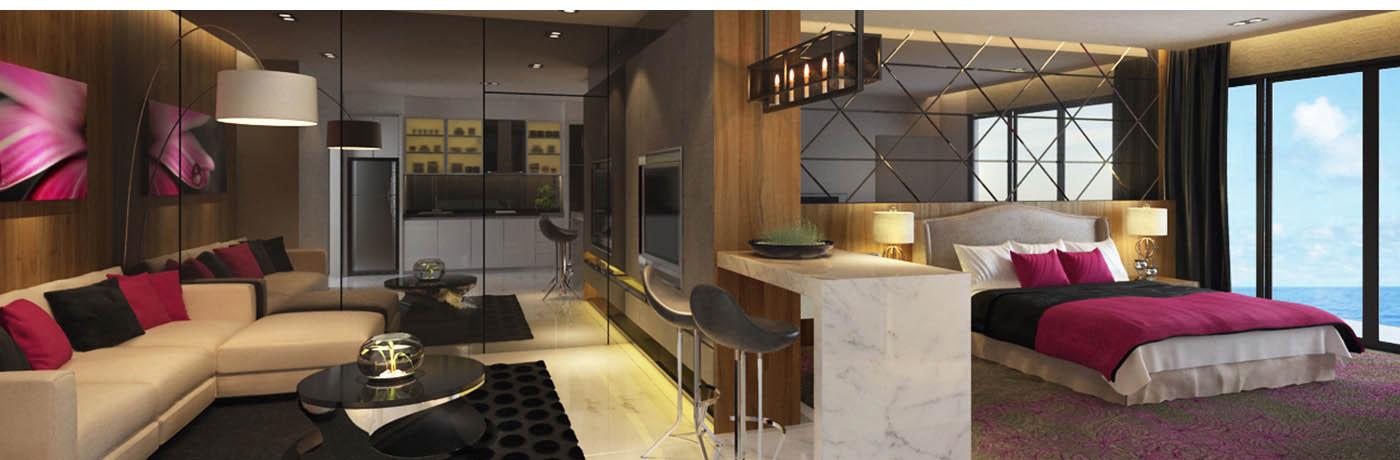 Armanee Terrace II Living Room Condominium Interior Design Residential Kuala Lumpur KL Malaysia Selangor Cheras Service