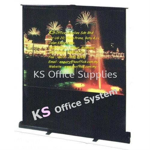 Projector Screen (IV) (Model:Portable Floor Screen) Projector Malaysia, Kuala Lumpur (KL), Selangor Supplier, Office Supply, Manufacturer | KS Office Supplies Sdn Bhd