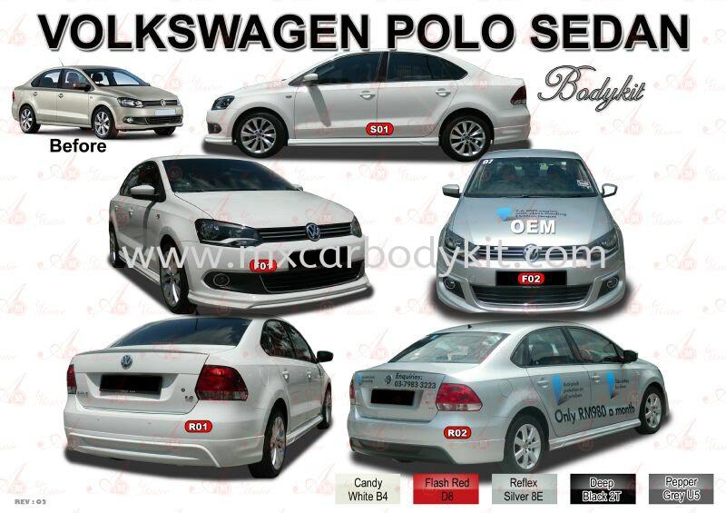VOLKSWAGEN POLO SEDAN AM STYLE BODYKIT POLO SEDAN VOLKSWAGEN Johor, Malaysia, Johor Bahru (JB), Masai. Supplier, Suppliers, Supply, Supplies   MX Car Body Kit