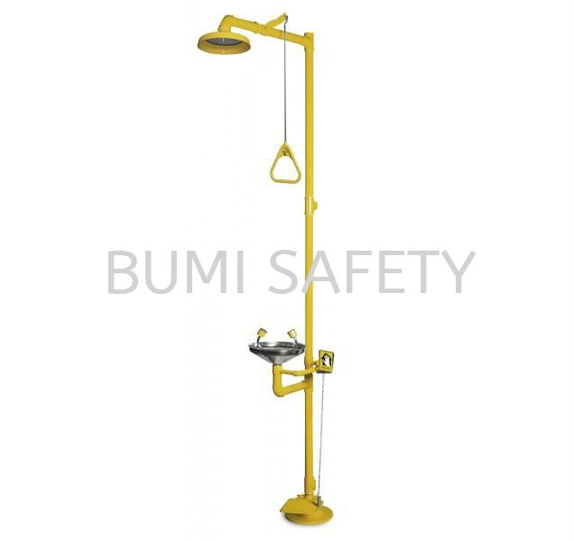Combination Unit Of ABS Drench Shower & S/Steel Eyewash Bowl with Foot Pedal Emergency Response, Eyewash / Shower Selangor, Kuala Lumpur (KL), Puchong, Malaysia Supplier, Suppliers, Supply, Supplies | Bumi Nilam Safety Sdn Bhd