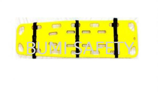 Spine Board w,3 straps ( For Adult & Child ) Stretcher Medical Equipment Selangor, Kuala Lumpur (KL), Puchong, Malaysia Supplier, Suppliers, Supply, Supplies | Bumi Nilam Safety Sdn Bhd
