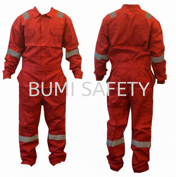 100% Cotton Coverall Red Coverall Protective Clothing Selangor, Kuala Lumpur (KL), Puchong, Malaysia Supplier, Suppliers, Supply, Supplies | Bumi Nilam Safety Sdn Bhd