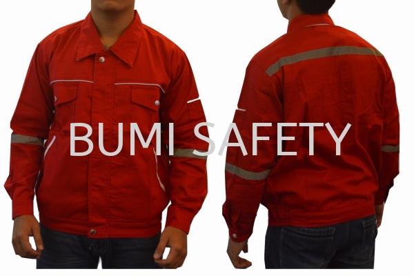 Safety Jacket Waistband Red Jacket Protective Clothing Selangor, Kuala Lumpur (KL), Puchong, Malaysia Supplier, Suppliers, Supply, Supplies | Bumi Nilam Safety Sdn Bhd