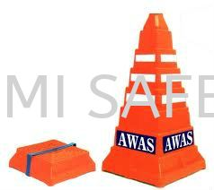 Safety Square Cone - Awas Traffic Control Safety Vest / Traffic Control Selangor, Kuala Lumpur (KL), Puchong, Malaysia Supplier, Suppliers, Supply, Supplies | Bumi Nilam Safety Sdn Bhd
