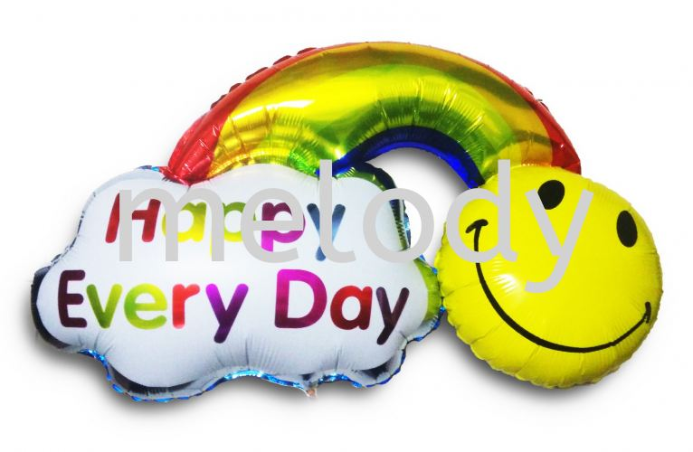 Foil Balloon \ Smilling Rainbow \ Happy Every Day - 2118 1102 01