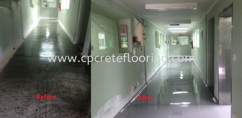 PU Flooring Before and After Comparison Office PU Flooring PU Flooring Shah Alam, Selangor, KL, Kuala Lumpur, Malaysia Supplier, Installation, Supply | CP Crete Sdn Bhd