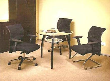 3_chair_1_table GLASS TABLE OFFICE SEATING Malaysia, Selangor, Kuala Lumpur (KL), Puchong Supplier, Suppliers, Supply, Supplies | NSY Office System