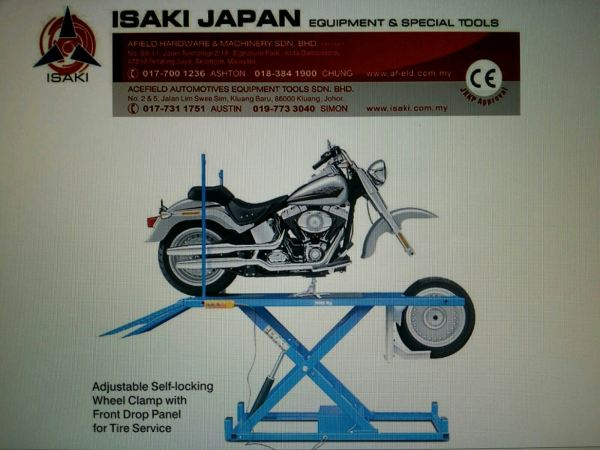 Isaki Japan Motorcycle Lift - Weight Lifting 1000kgs Motorcycle Lift Malaysia Johor Selangor KL Supply Supplier Suppliers | Acefield Automotive Equipment Tools Sdn Bhd