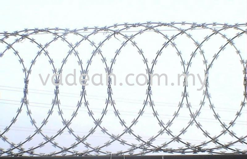 Concertina Razor Barbed Wire Razor Barbed Wire Johor Bahru (JB), Johor Supplier, Suppliers, Supply, Supplies | Vadean Trading Sdn Bhd
