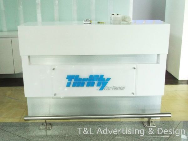 Thrifty 5mm acrylic bevel edge + bold nuts + reversed sticker Acrylic Signage Johor Bahru (JB), Malaysia, Skudai Supplier, Supply, Design, Install | T & L Advertising & Design