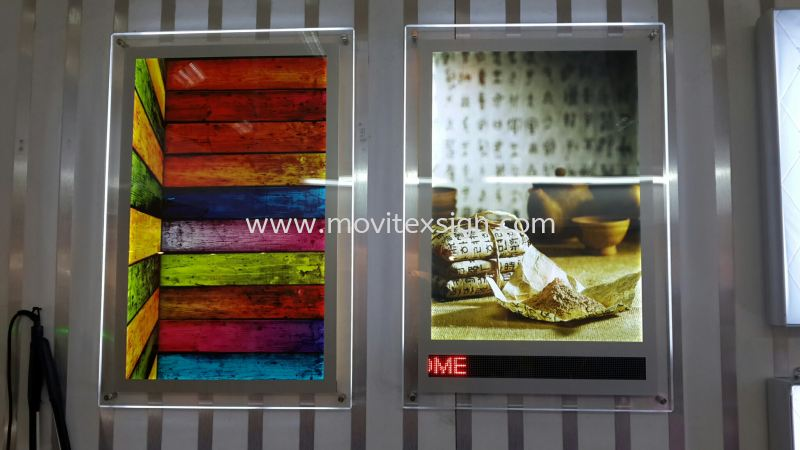 Acrylic slim POSTER  LED.. n..Led moving message  Material Johor Bahru (JB), Johor, Malaysia. Design, Supplier, Manufacturers, Suppliers | M-Movitexsign Advertising Art & Print Sdn Bhd