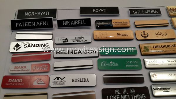 name tag and school badge with laser engraving or engraving laser marking (click for more detail) Material Johor Bahru (JB), Johor, Malaysia. Design, Supplier, Manufacturers, Suppliers | M-Movitexsign Advertising Art & Print Sdn Bhd