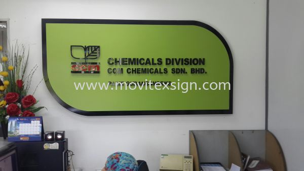 Reception sign / Office sign and Logo  Reception Counter Signage Johor Bahru (JB), Johor, Malaysia. Design, Supplier, Manufacturers, Suppliers | M-Movitexsign Advertising Art & Print Sdn Bhd