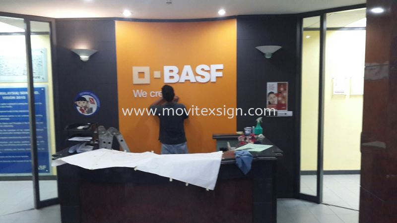 3D Acrylic cutout n digital print colours or color vinyl  Reception sign / Office sign and Logo  Reception Counter Signage Johor Bahru (JB), Johor, Malaysia. Design, Supplier, Manufacturers, Suppliers | M-Movitexsign Advertising Art & Print Sdn Bhd