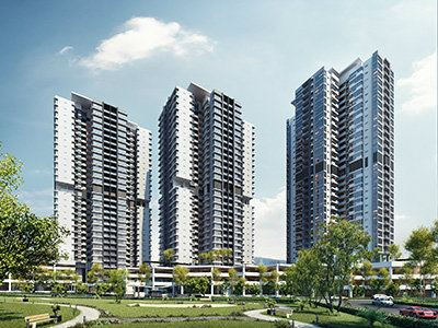 General View to Infinity Residences,Wangsa Maju Ongoing Project-Air Conditioning and Ventilation Services Selangor, Sg Buloh, Malaysia Design, Installation, Maintenance | EAS Technologies Sdn Bhd / EAS M&E Services Sdn Bhd