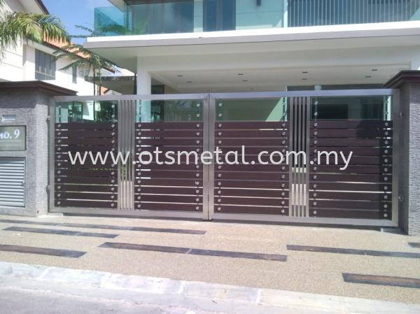 SSG030 Stainless Steel Gate Johor Bahru (JB) Design, Supplier, Supply | OTS Metal Works