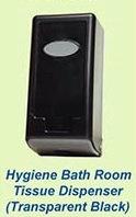 Hygiene Bath Room Tissue Dispenser (Transparent Black)