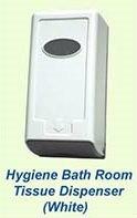 Hygiene Bath Room Tissue Dispenser (White)