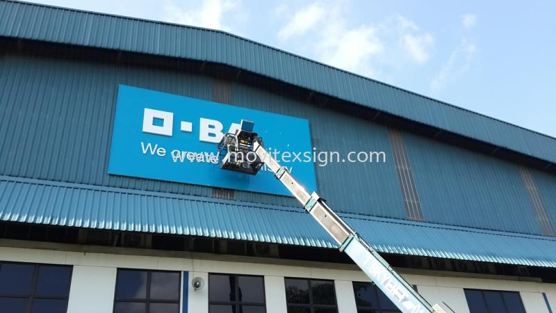 installation jb/ new Branding  Logo Factory sign Johor Bahru (JB), Johor, Malaysia. Design, Supplier, Manufacturers, Suppliers | M-Movitexsign Advertising Art & Print Sdn Bhd